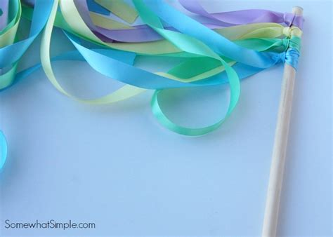 ribbon crafts for ribbon wands a simple and easy diy tutorial on somewhat