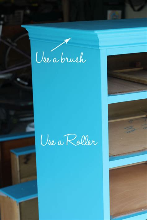 spray painting vs rolling do you use a brush or roller to paint furniture my