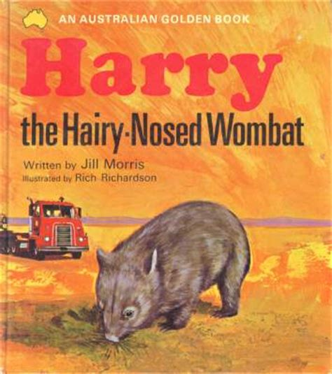 wombat picture book wombat books the harry nosed wombat