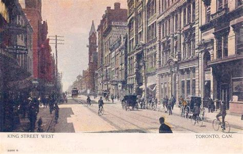 toronto rubber st postcard toronto king west carriages