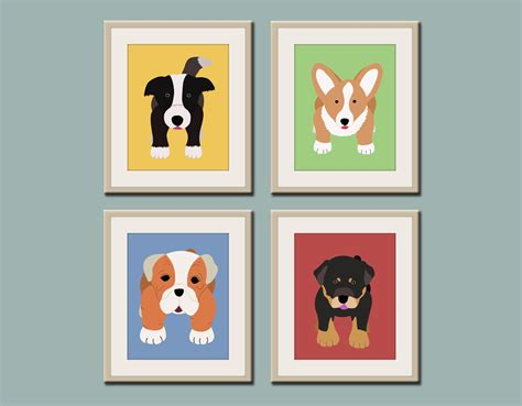 puppy nursery decor prints puppy nursery prints any 4 prints