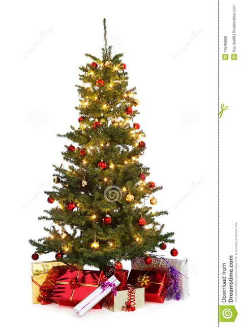 tree decorated images decorated tree stock image image of gift