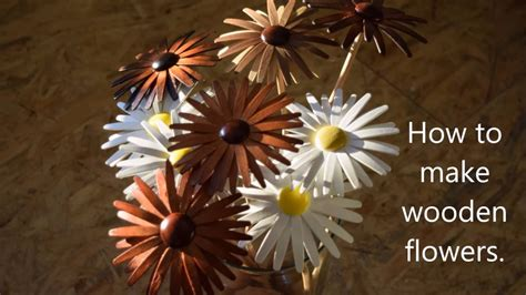 how to make wooden how to make wooden flowers