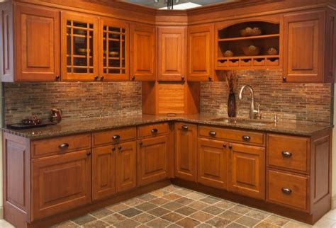 mission style cabinet doors spaces asian with accent tile