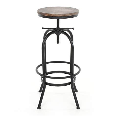 swivel kitchen chair industrial style height adjustable swivel bar stool