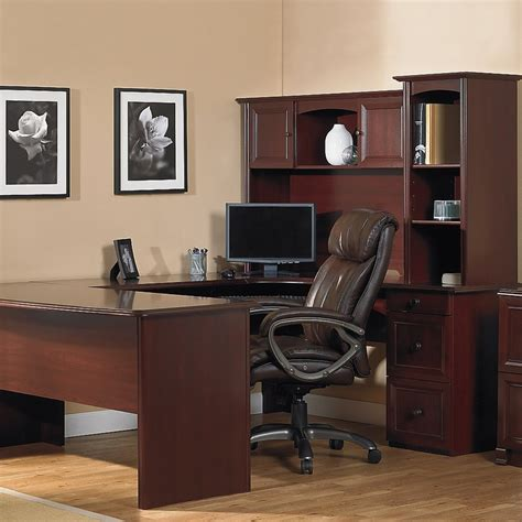 office depot l shaped desk with hutch realspace broadstreet contoured u shaped desk 30 h x 65 w