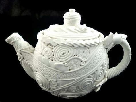 decorative pieces for home teapot decorative home decor white polymer clay