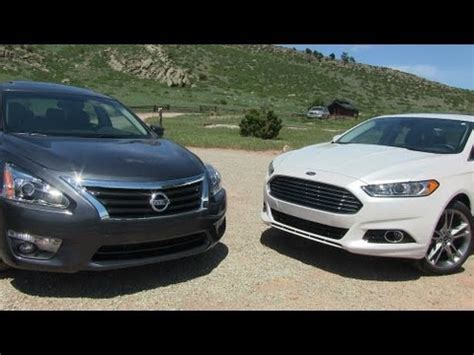 Nissan Altima Vs Ford Fusion by 2013 Ford Fusion Vs Nissan Altima 0 60 Mph Mile High