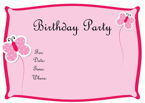 make a birthday invitation card free create your own birthday invitation printable free