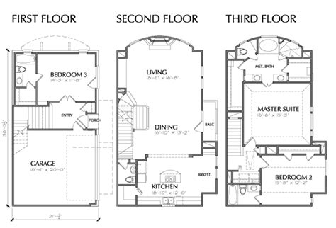 3 floor plan 3 story house plans with roof deck more than 80 pictures