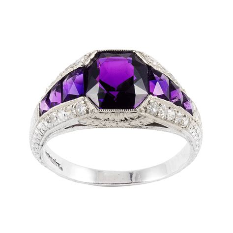 jewelry rings a la vieille russie edwardian amethyst and ring