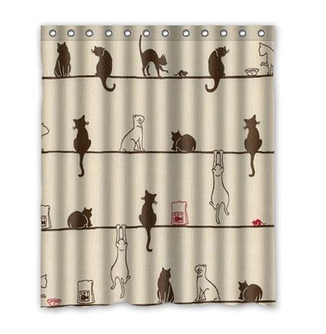 mignon noir et blanc chats d 233 coration tissu moderne classique personnalis 233 e salle de