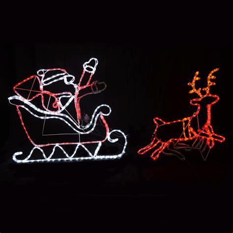 led santa sleigh reindeer lights 28 images national tree co reindeer