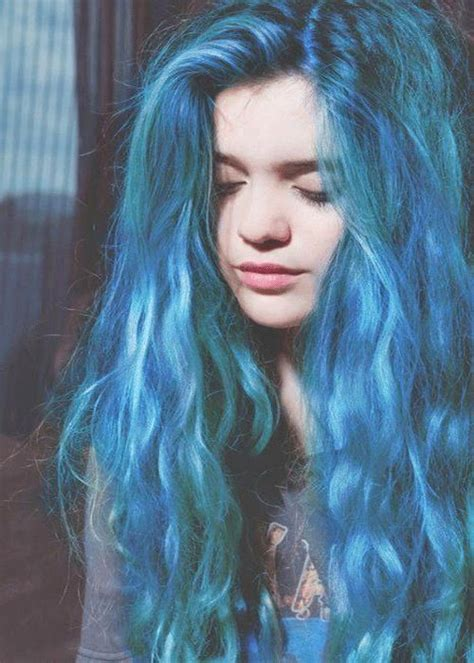 blue hair aqua blue hair cool for me