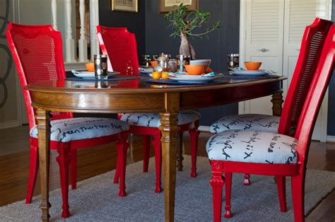 spray painting dining room chairs diy ideas spray paint and reupholster your dining room