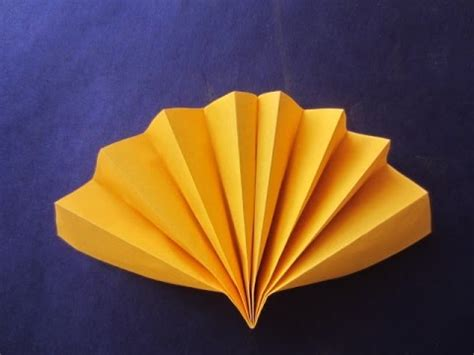 paper craft fan how to make simple fan paper craft