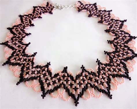 free beaded jewelry patterns beadsmagic free pattern for necklace selene
