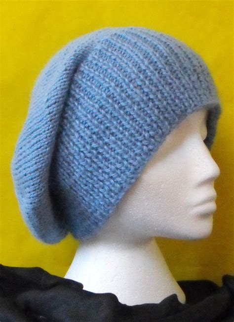 pattern for knitted slouch hat knitting pattern chunky slouch big beanie hat