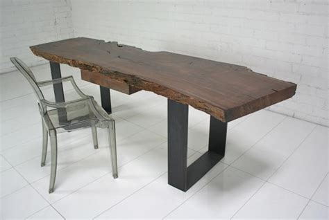 modern industrial desk www roomservicestore industrial modern walnut slab desk
