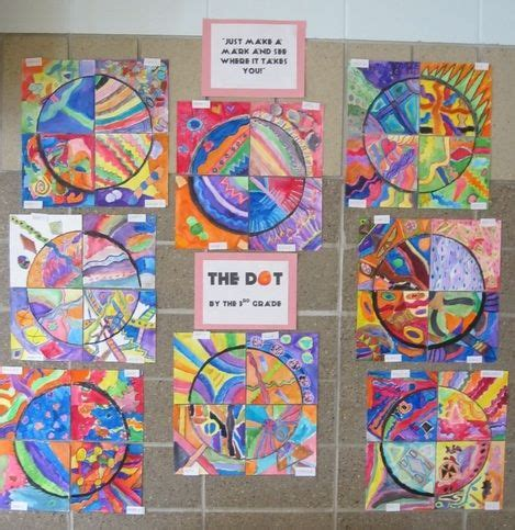the dot picture book the dot display lesson ideas