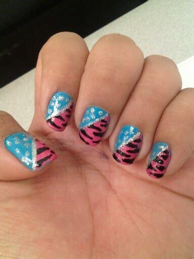 nail rubber st blue pink nails my nails