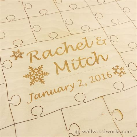 woodworks company winter wedding puzzle wall woodworks company wall