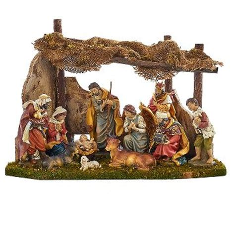 indoor nativity set with stable large indoor nativity sets target