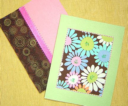 craft ideas for greeting cards craftypod greeting cards with fabric yarn and other