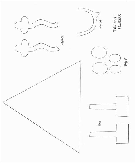 craft templates for shapes crafts print your triangle template all