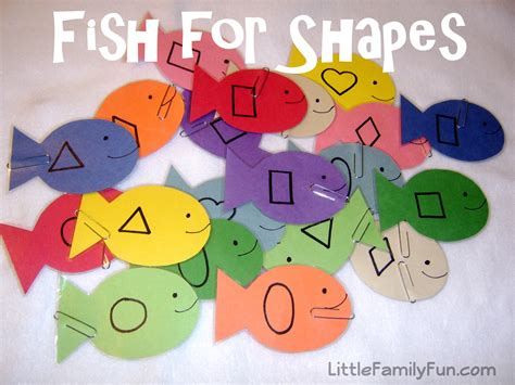 learning crafts for family fish for shapes