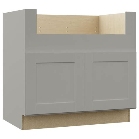 kitchen sink base cabinets hton bay shaker assembled 36x34 5x24 in farmhouse