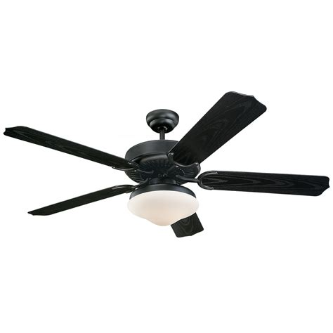black outdoor ceiling fans with lights weatherford deluxe matte black 52 inch outdoor ceiling fan
