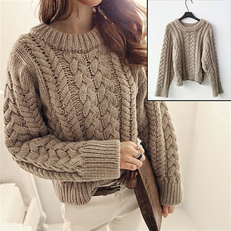 thick knit thick cable knit jumper crochet and knit