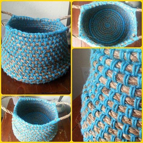 knit rope basket crochet rope basket 183 a knit or crochet basket 183 home