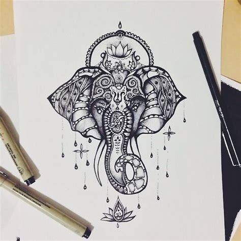 25 beautiful mandala elephant tattoo ideas on pinterest