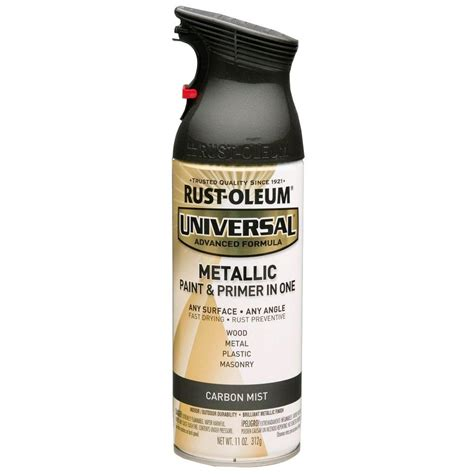 home depot spray paint and primer rust oleum universal 11 oz all surface metallic carbon