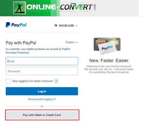 can t make credit card payments how to pay without creating a paypal account file