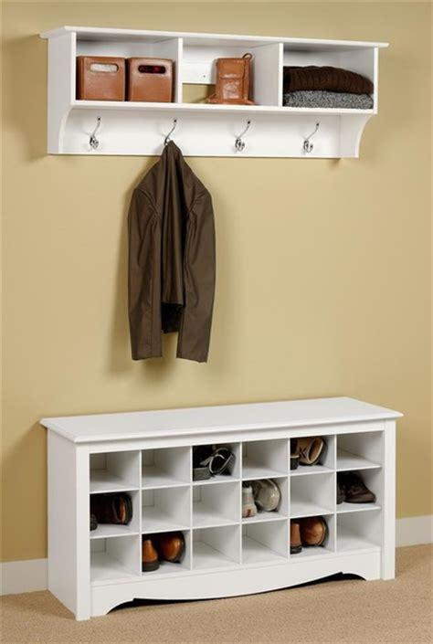 entryway shoe rack entryway wall mount coat rack w shoe storage