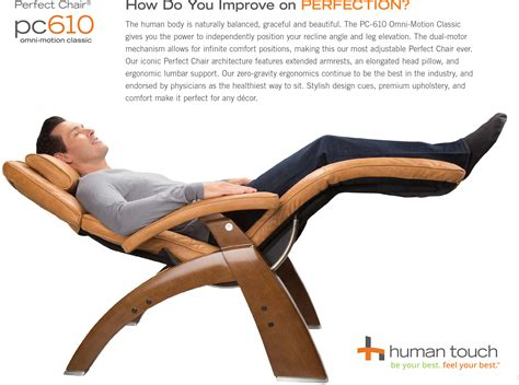 the human touch chair new pc 610 omni motion human touch zero gravity