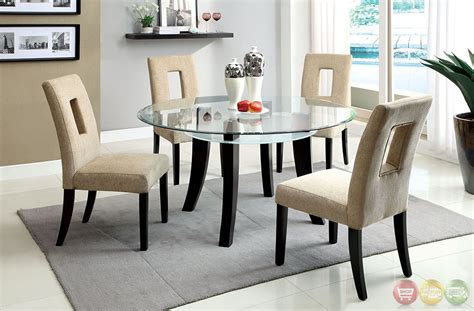 glass tables for kitchen grandam i contemporary espresso casual dining set with