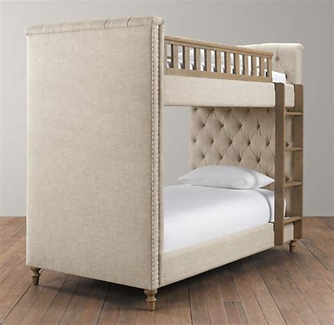 upholstered bunk beds chesterfield tufted bunk bed