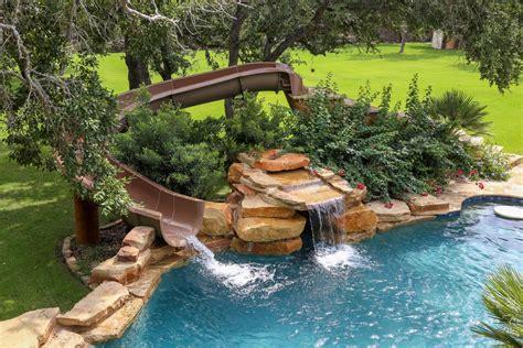 backyard pool slides custom backyard pool slides pools for home