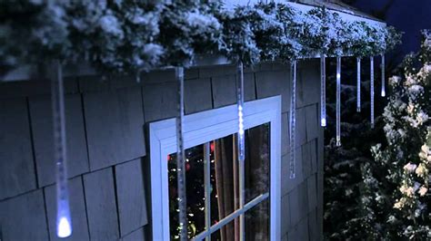 led cascading icicle lights philips led cascading icicle light set 12 count