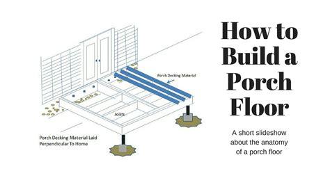 porch building plans how to build porch floor by front porch ideas