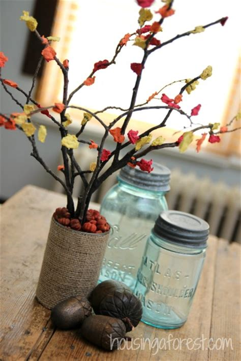 autumn crafts for to make fall centerpiece craft for housing a forest