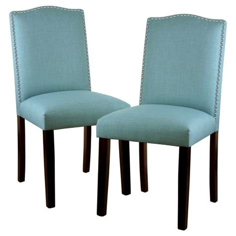 turquoise dining room chairs camelot dining chair with nailhead trim set of 2