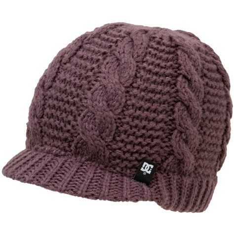 womens knit beanie dc cable knit brim beanie s backcountry