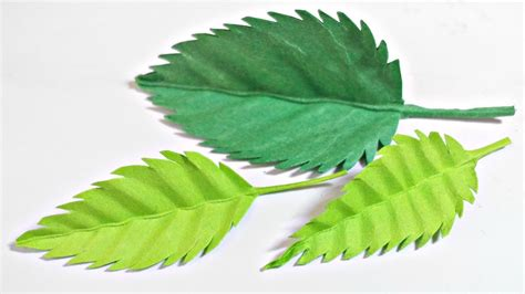 paper leaves craft paper leaf leaves diy design craft tutorial