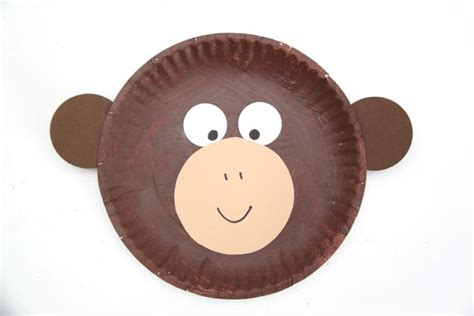monkey paper plate craft curious george inspired paper plate monkey craft smashed