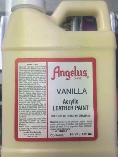 Angelus Vanilla Acrylic Leather Paint 1 Pint Jwong Boutique